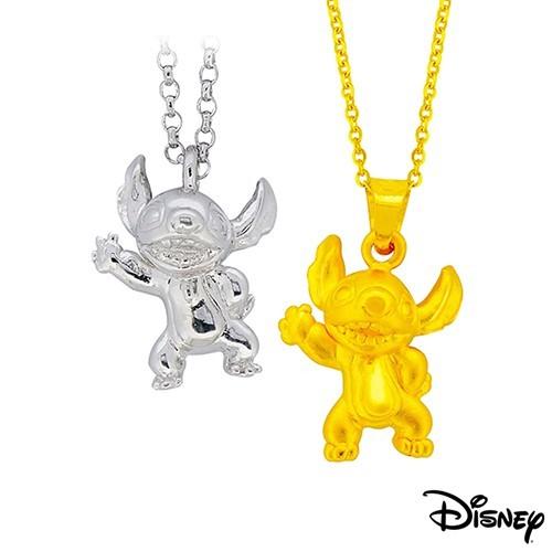 disney迪士尼系列金飾 立體純銀墜子-焦點史迪奇款+立體黃金墜子-焦點史迪奇款 送項鍊現貨+預購