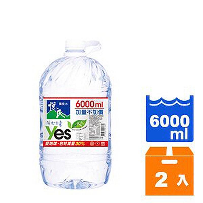 悅氏礦泉水6000ml (2入)/箱【康鄰超市】