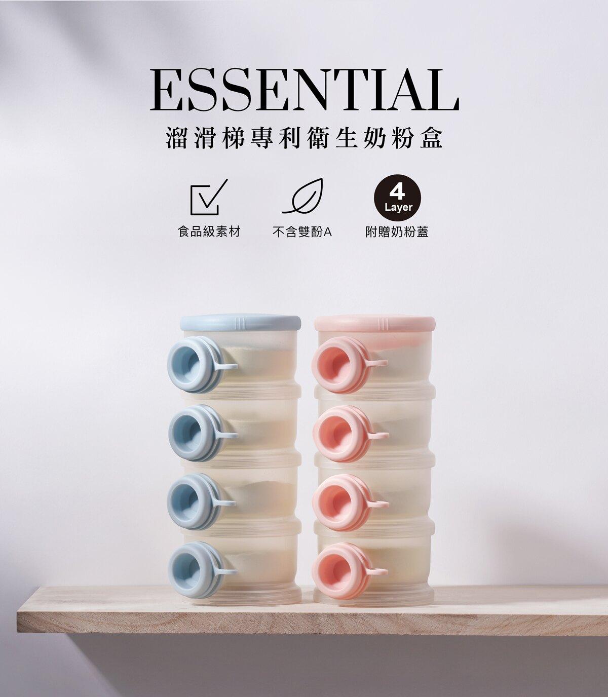 【淘氣寶寶】2020 新品強打 小獅王 辛巴 Simba 溜滑梯專利衛生奶粉盒-菈藍/貝粉