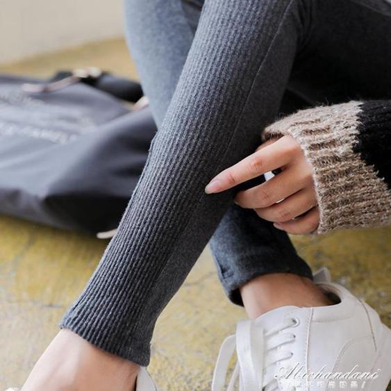 網紅春秋款螺紋灰色純棉打底褲女外穿薄款秋冬季九分長褲內穿衛生褲  夏洛特居家名品