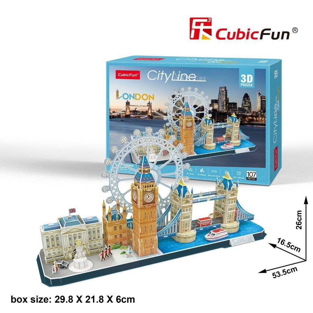 [樂立方3D立體拼圖] 城市主題-倫敦 (MC253H)