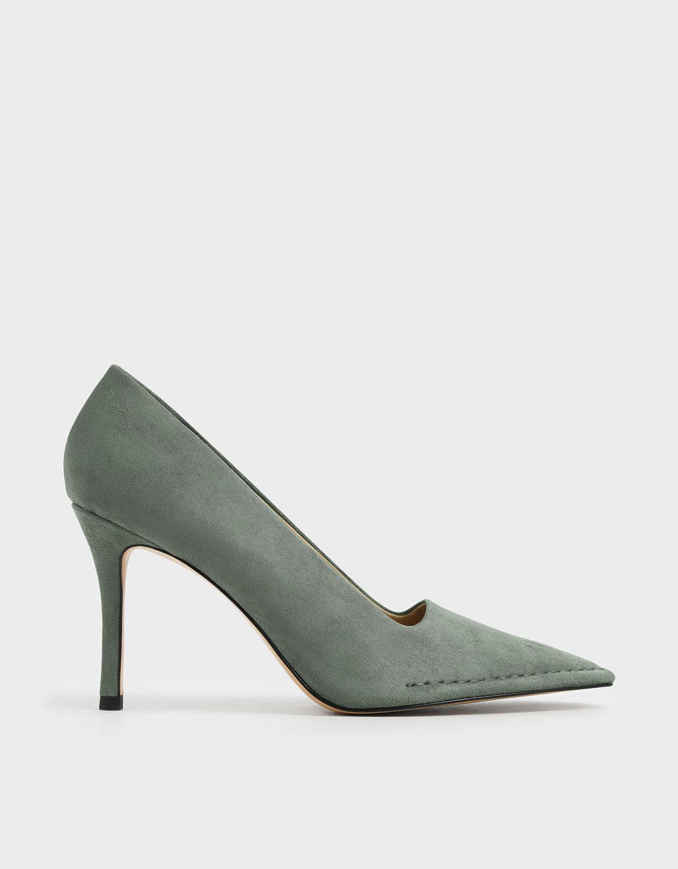 縫線造型跟鞋