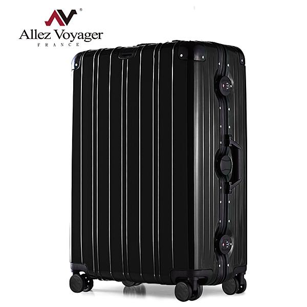 行李箱 鋁框箱 29吋 PC金屬堅固鋁框專利飛機輪 奧莉薇閣 無與倫比的美麗-曜石黑