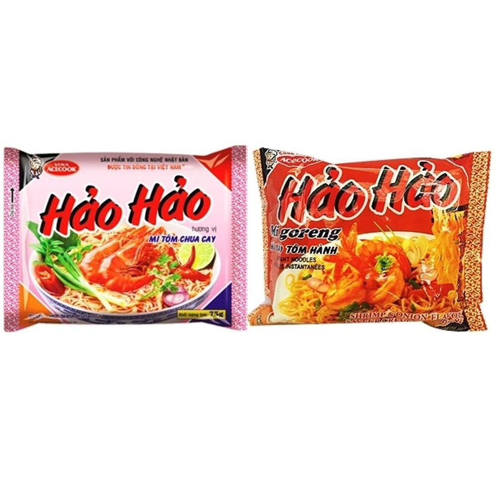 越南 HaoHao 酸辣蝦味麵/蝦蔥味炒麵(1包入) 兩款可選【小三美日】團購/泡麵◢D138165