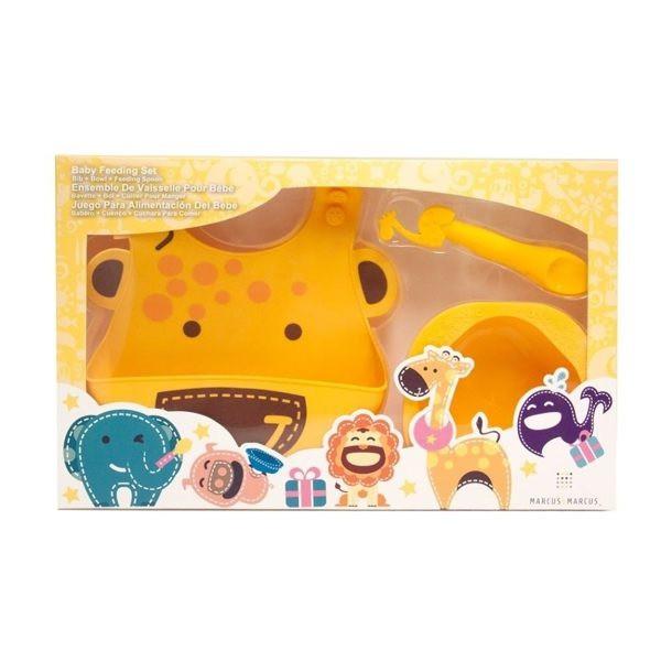 【加拿大MARCUS&MARCUS】動物樂園餵食禮盒組-長頸鹿(黃) / 彌月禮盒
