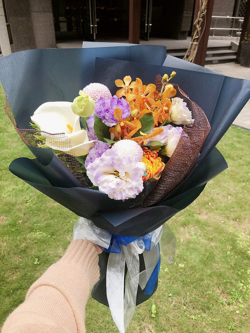 鮮花/ 清新感鮮花花束/限台北市外送 /生日禮物/求婚花束/花束
