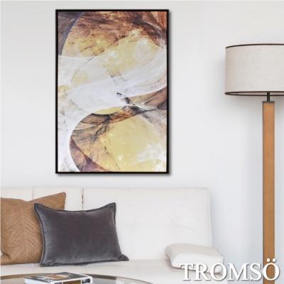 TROMSO時尚風華抽象有框畫大幅-光耀金宮W979(60X90CM)