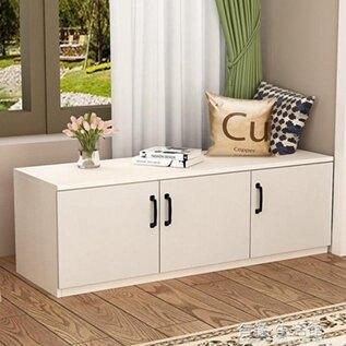 定制飄窗櫃儲物櫃可坐簡約現代陽臺櫃矮櫃地櫃收納櫃臥室榻榻米櫃  全館免運