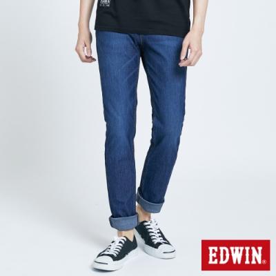 EDWIN JERSEYS x EDGE 加大碼 皮條滾邊窄直迦績褲-男-石洗綠