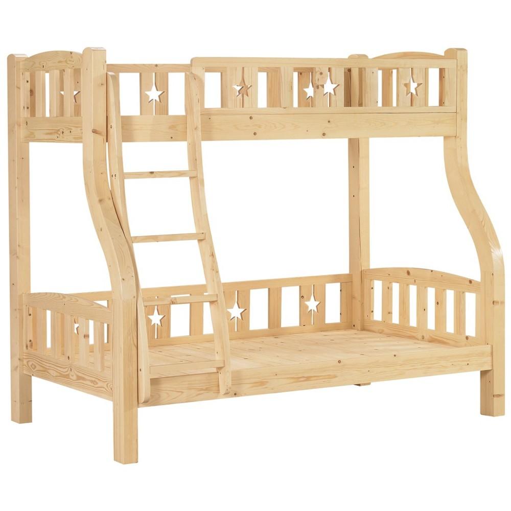 松木紋雙層床架(樓梯型)大台北都會區免運費