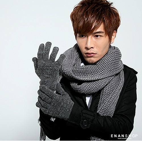 都會風針織手套 保暖手套 聖誕節禮物 韓國流行 手套 惡南宅急店0052e