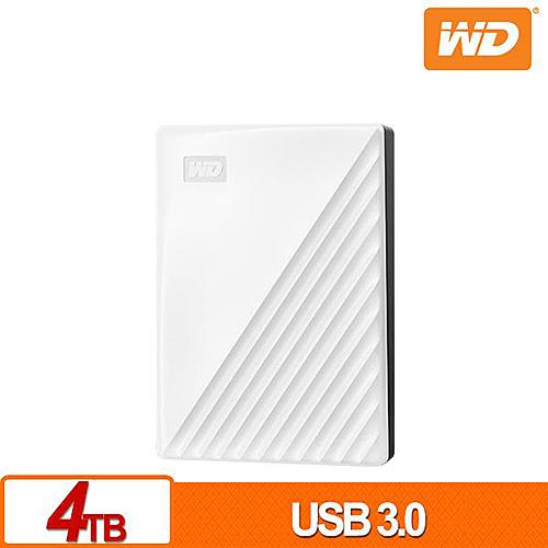 (2019新款)WD My Passport 4TB 白色 2.5吋 USB3.0 外接硬碟 WDBPKJ0040BWT-WESN