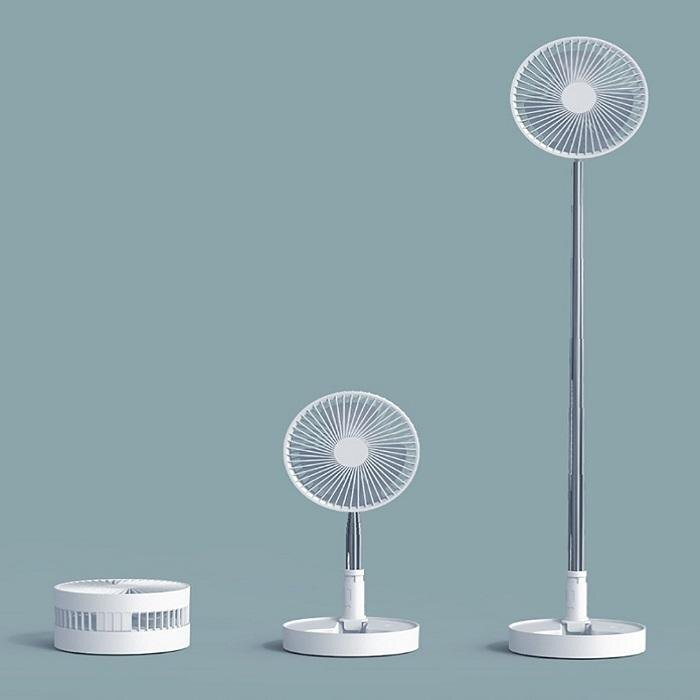 伸縮360度風扇【NT097】創意折疊伸縮 USB風扇 攜帶 立扇 桌面 電扇 折疊風扇 落地扇 露營隨身