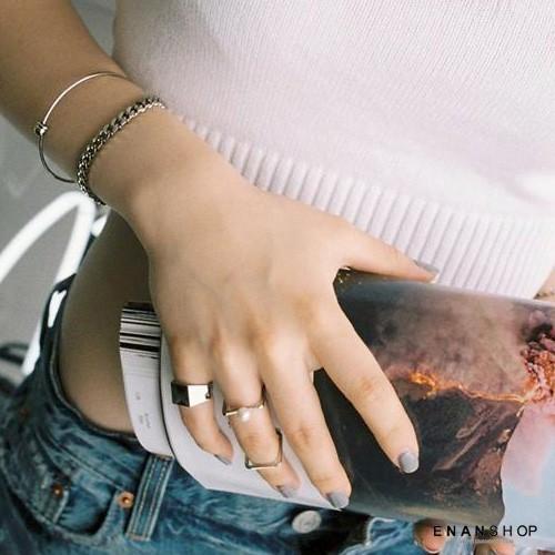 方塊造型戒指 嫉妒的化身 孔孝真同款 韓國流行 戒指 惡南宅急店0364c