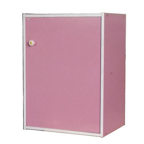 漾彩兩格一門櫃-粉紅色(40x30x54cm)【愛買】