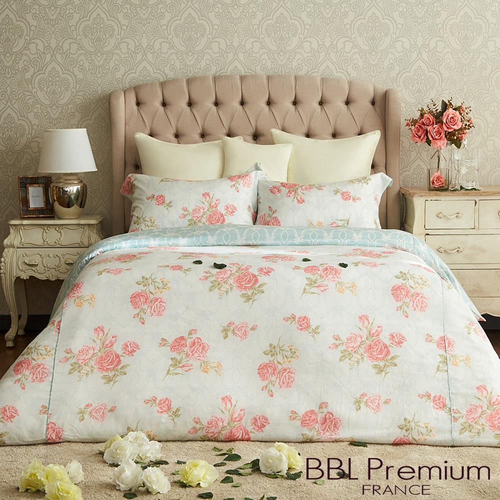 【BBL Premium】凡爾賽玫瑰100%天絲纖維.印花特大兩用被床包組