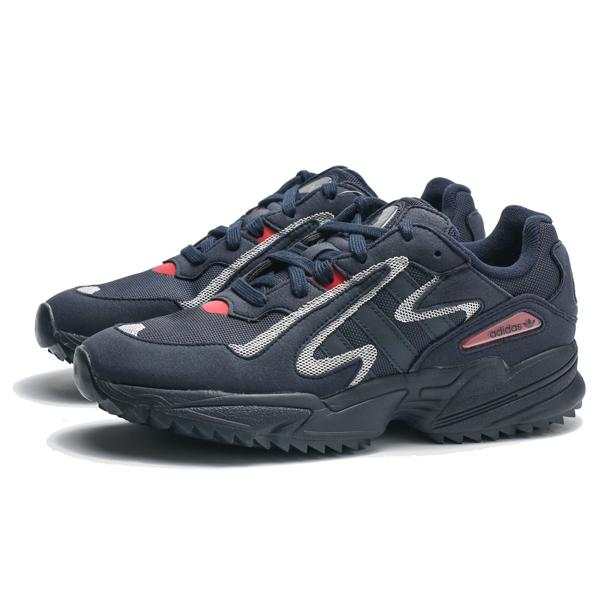 ADIDAS愛迪達 YUNG-96 Chasm Trail  灰 紅 粉 運動男鞋  EE7242