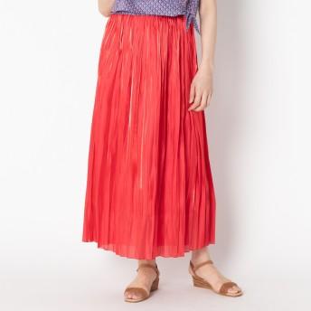 HELIOPOLE(エリオポール)/《MORE SALE》サテン アコーディオンプリーツ スカート