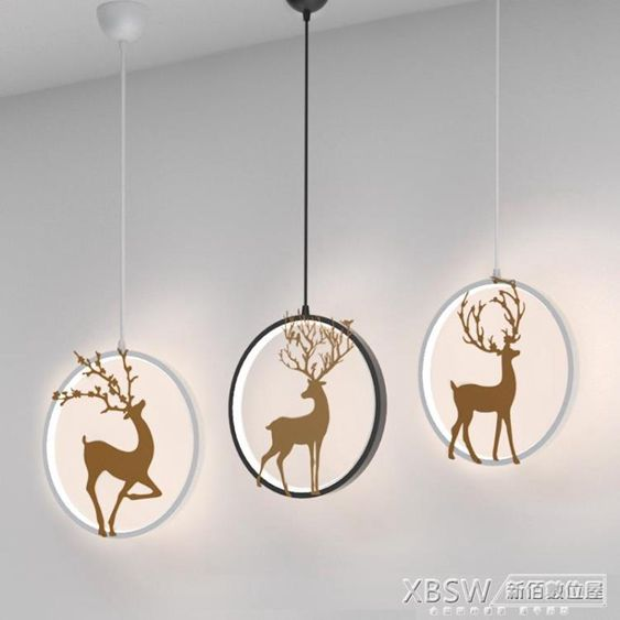 北歐小吊燈創意個性床頭臥室現代簡約小鹿走廊過道陽臺吧臺餐廳燈CY