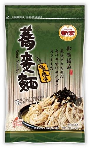 【新宏】蕎麥麵500g/包(全素)