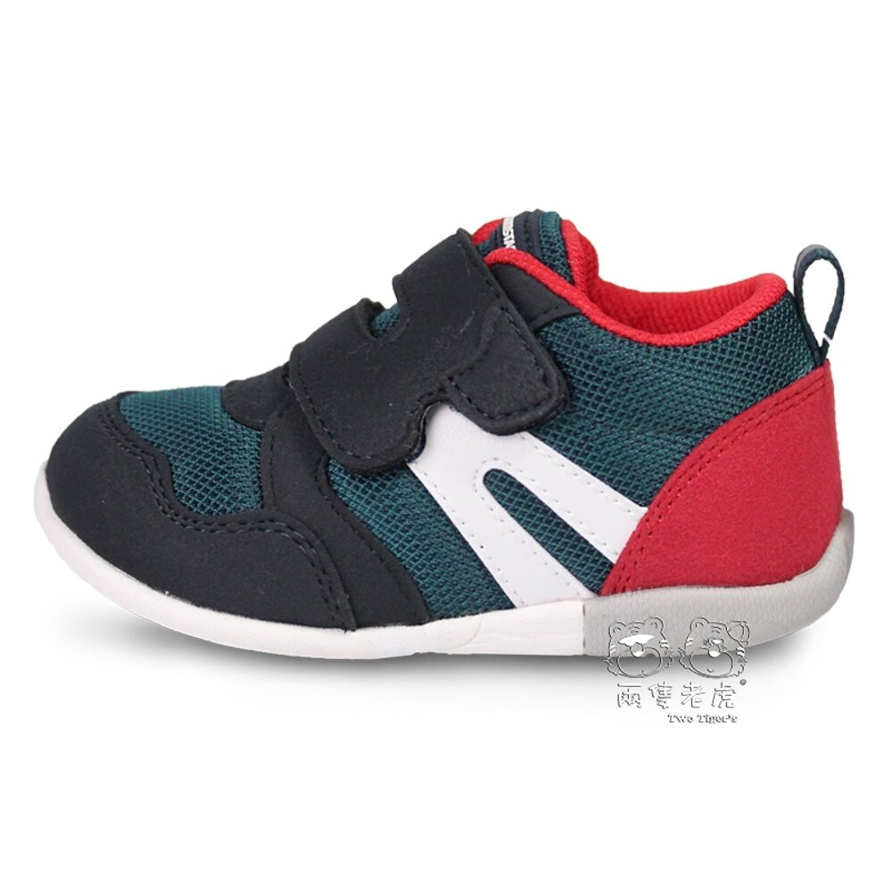 MoonStar 日本月星 CRHI 寶寶鞋 深藍綠 / 紅 魔鬼氈 小童鞋 NO.R5694