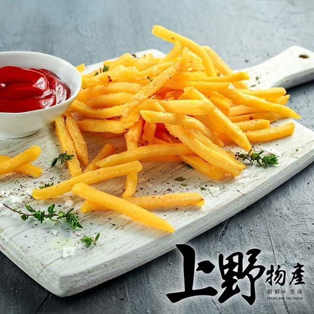 【上野物產】美式金黃細薯條 (500g±10%/包) x1