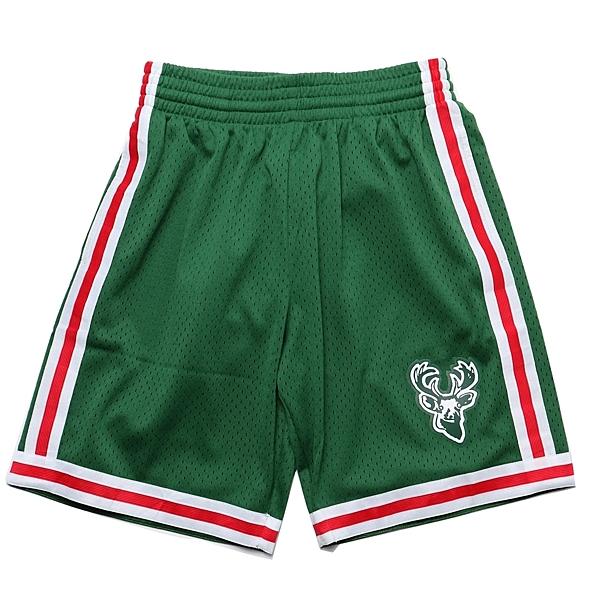 MITCHELL & NESS M&N 短褲 球褲 復古 公鹿 客場綠 (布魯克林) MNSWSG220H