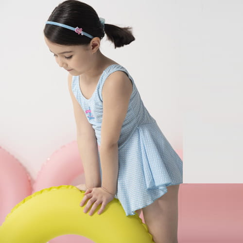 【SARBIS】女童連身裙泳裝附泳帽B882010