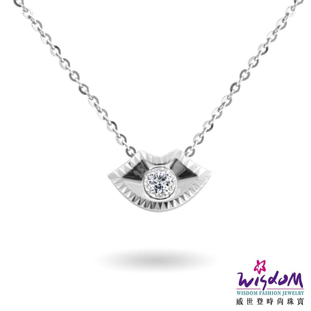 威世登 18K金 鑽石項鍊-JDB01907-BBFXX