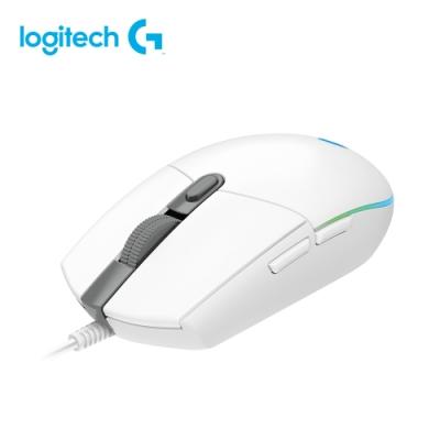 羅技 Logitech G102 第二代 RGB 炫彩遊戲滑鼠  白