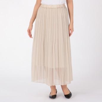 Munich(ミューニック)/linen like soft organdy pleated skirt
