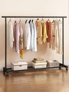 衣帽架 晾衣架落地折疊家用掛衣架陽臺曬衣架臥室內簡易單桿式涼衣服架子