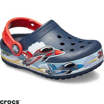 Crocs 卡駱馳 (童鞋) 趣味學院噴射機酷閃小克駱格-205521-410