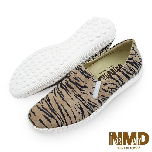 Normady 諾曼地 個性狂野虎紋真皮球囊氣墊懶人鞋 MIT手工鞋 虎紋褐 LV6808-C3