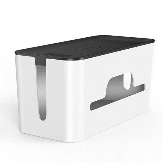 電線收納盒排插理線盒插座充電線電源線箱盒電腦線桌面集線盒-
