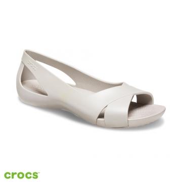 Crocs卡駱馳 (女鞋) 瑟琳娜花漾女士平底鞋  206106-018
