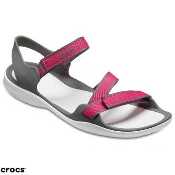 Crocs 卡駱馳 女鞋 激浪織帶涼鞋 204804-6OH