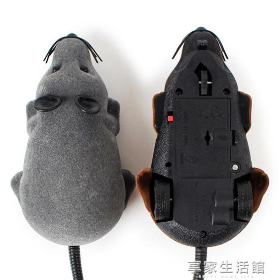 貓玩具老鼠無線遙控逗貓老鼠貓咪旋轉電動仿真老鼠毛絨寵物玩具