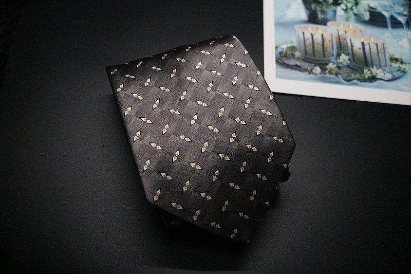 灰色小碎花真絲領帶/商務精英摯愛/限量發佈