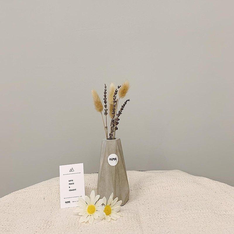 /獨特/ 幾何水泥花器 可加購乾燥花
