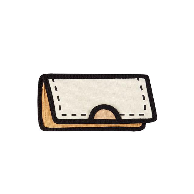 JumpFromPaper 2D卡通包 米棕色鎂光燈長夾