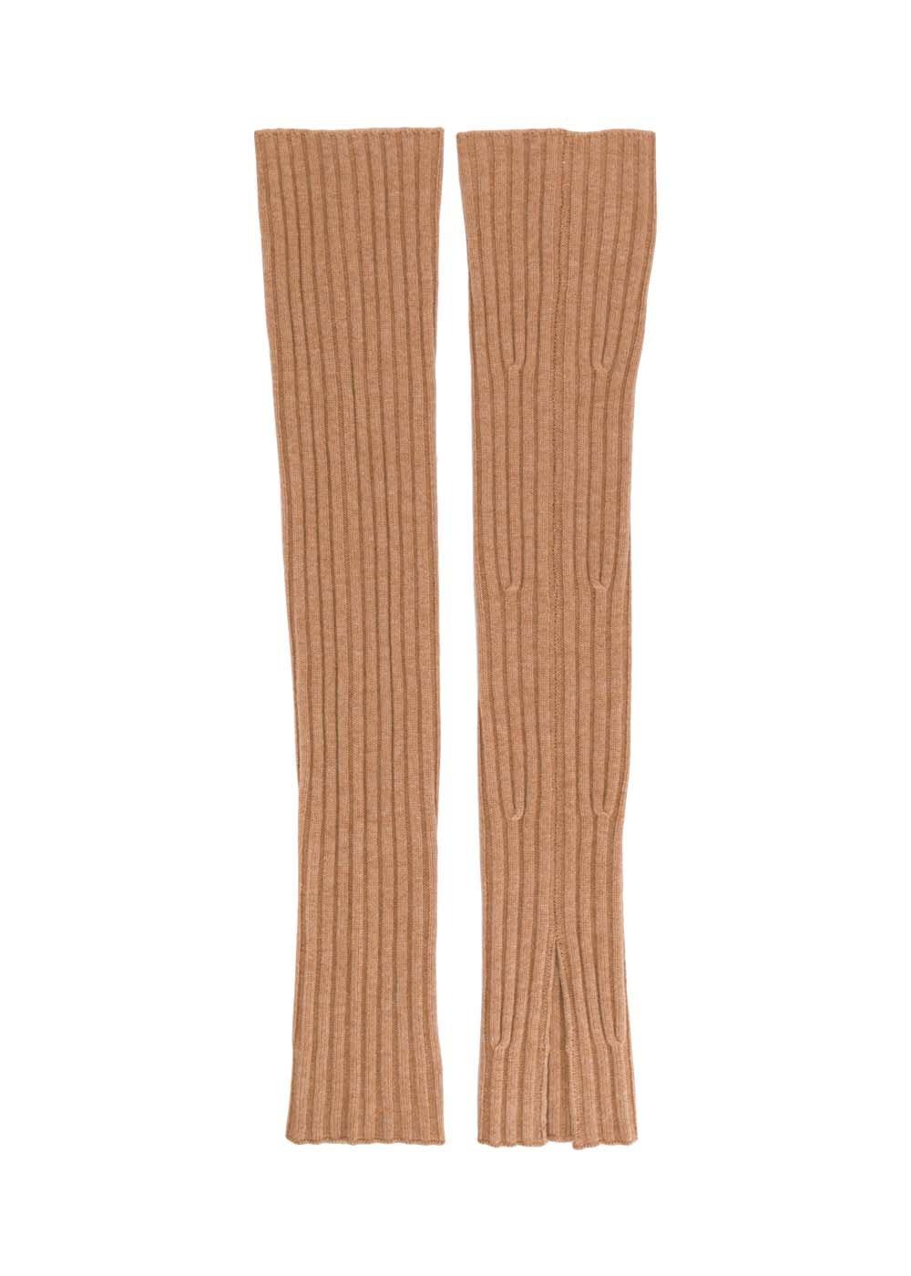 Cali Ribbed Leg Warmer - One Size / Camel