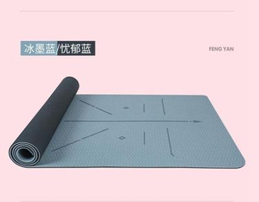 峰燕TPE瑜伽墊加厚加寬加長女防滑瑜珈地墊子家用健身初學者喻咖
