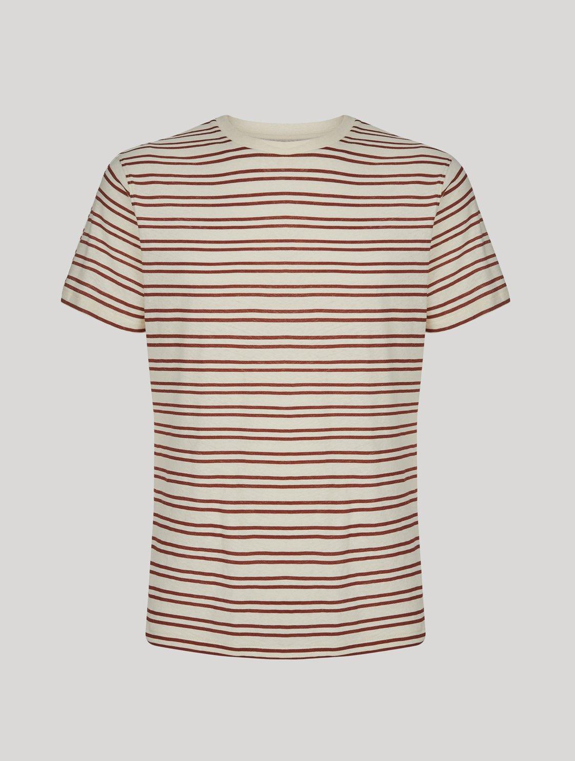 Lucio T-Shirt Leblon Stripe Print Bordeaux XXXL