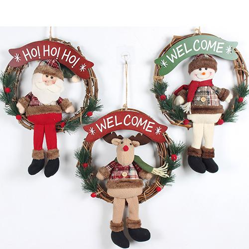 聖誕藤花環裝飾品 聖誕花環 門掛裝飾 櫥窗裝飾 聖誕節裝飾品