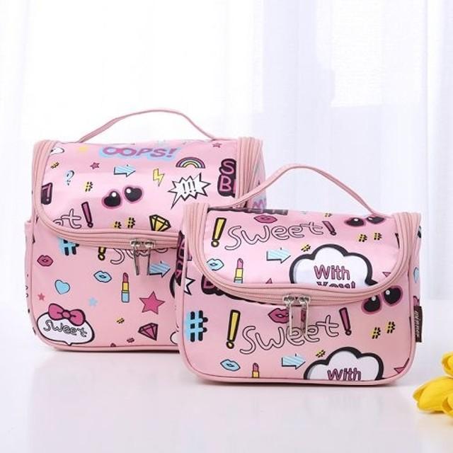 韓國簡約便攜旅遊出差洗漱包 (卡通大號) 旅行化妝包 收納包 大容量多功能