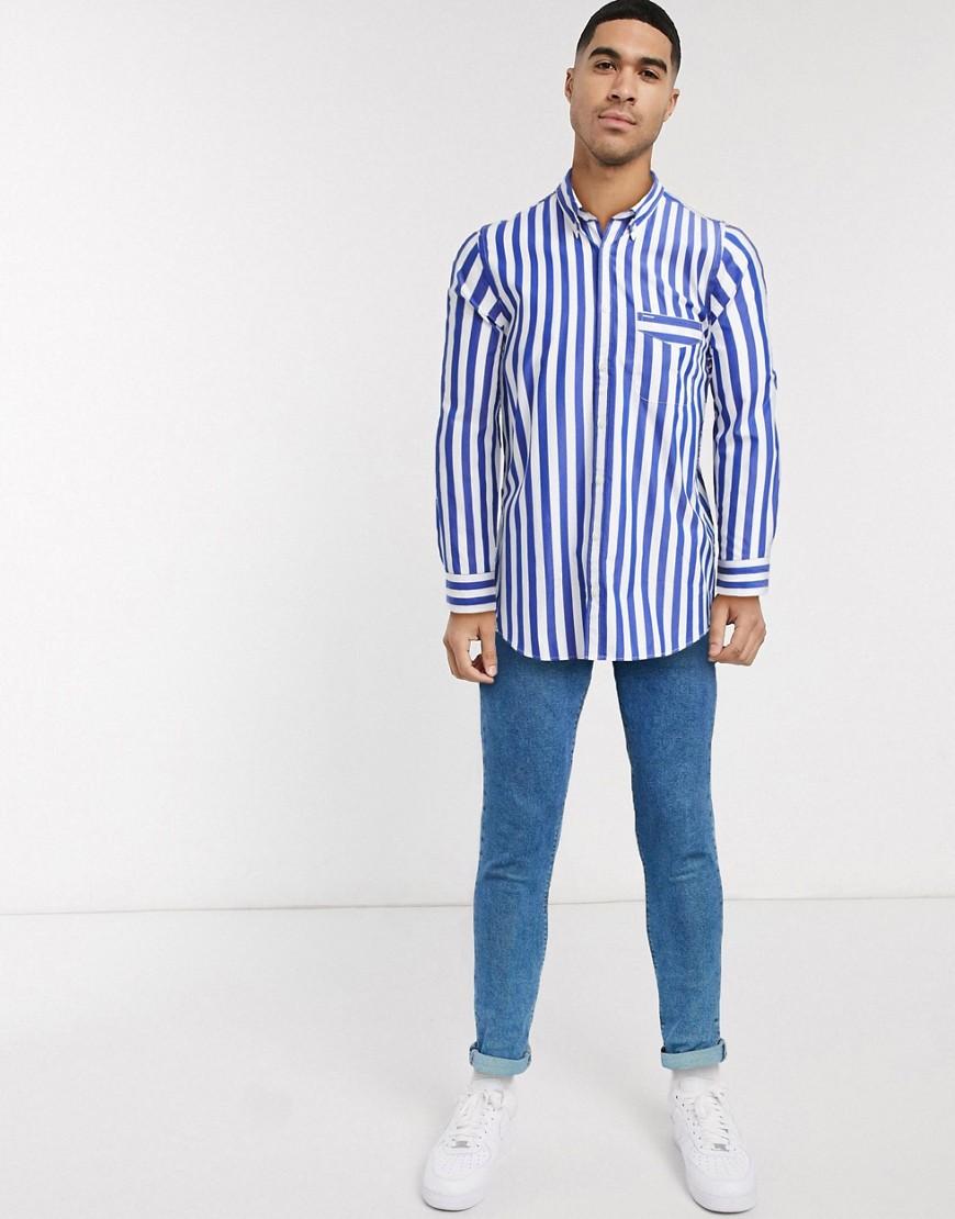 Tommy Hilfiger be bold striped shirt-White