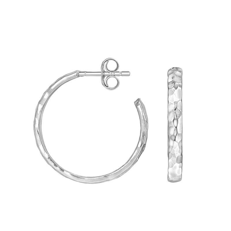 20mm Hammered Hoop Nomad Earrings