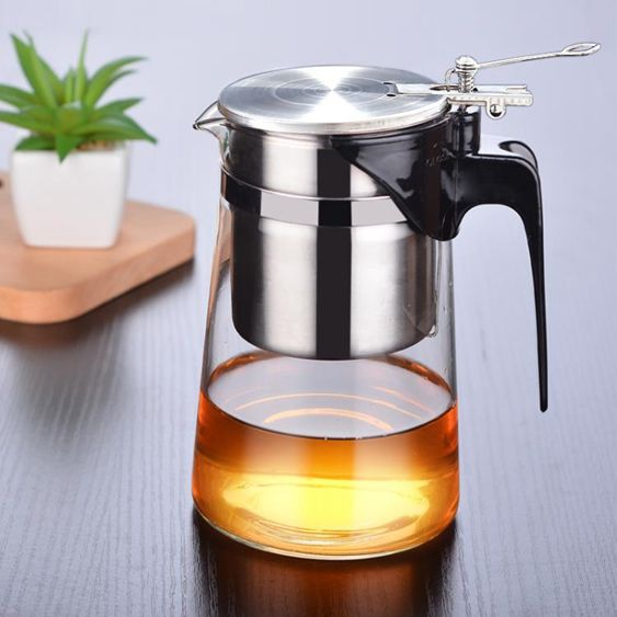 【飄逸壺】泡茶壺飄逸杯可拆洗全過濾304不銹鋼內膽玻璃玲瓏杯耐高溫