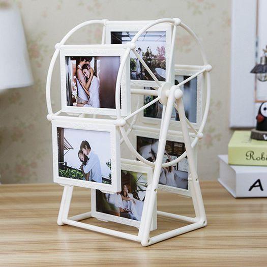 創意DIY手工照片風車旋轉相框擺臺相冊結婚擺件女生畢業季-